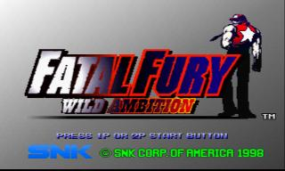 Screenshot Thumbnail / Media File 1 for Fatal Fury - Wild Ambition [NTSC-U]
